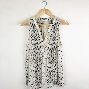 Joie 100% Silk Animal Print Blouse